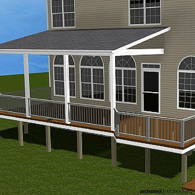 When covering your porch or deck there are three typical for Shed roof porch designs