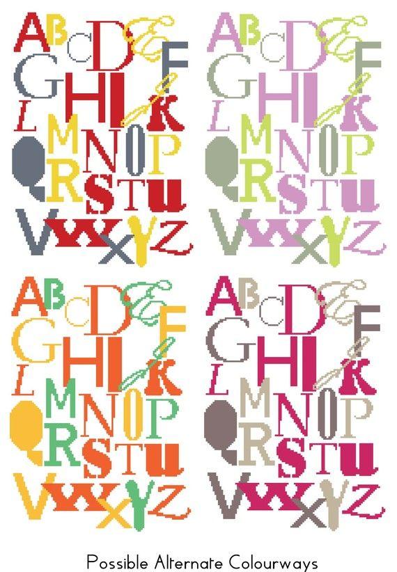 Nursery Alphabet Sampler PDF Cross Stitch by foxandfeathers