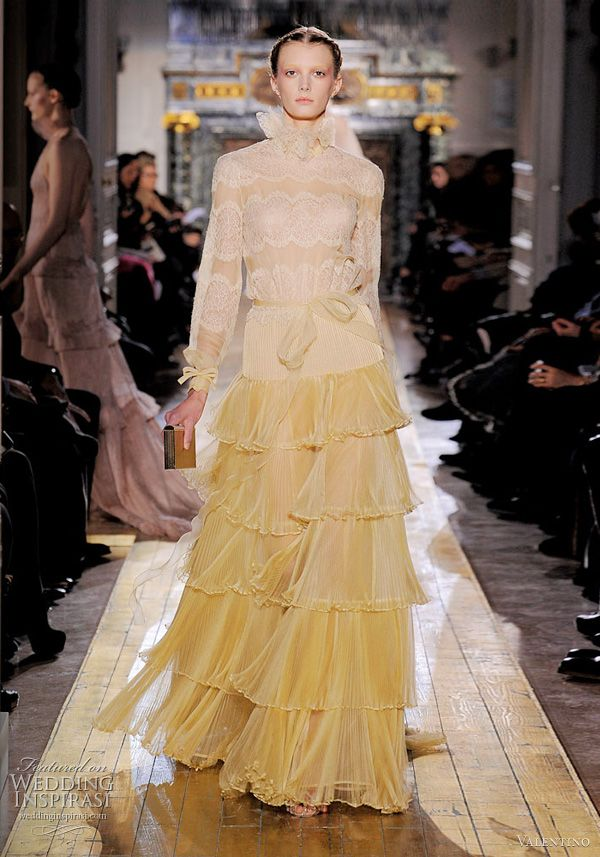 6908ec70af4 Valentino Spring/Summer 2011 Couture | ❤ Yellow ~ Mellow ...