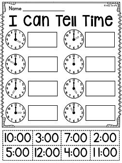 Telling time to the hour and half-hour activities - so many good ideas!