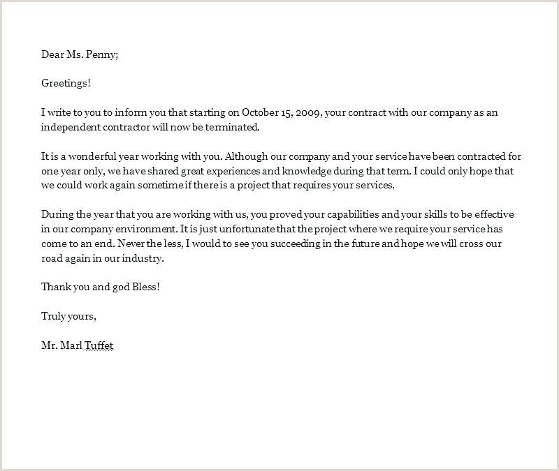Independent Contractor Termination Letter Sample from i.pinimg.com