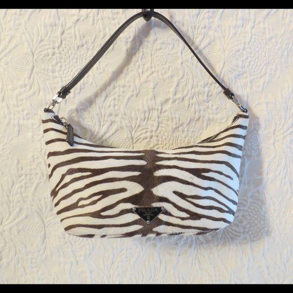 1163786de5e0 Fabulous Prada Zebra-Print Pony Hair Handbag Bag Prada Cream & Brown  Calf Fur