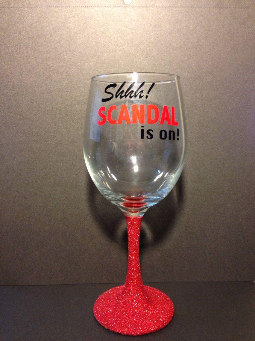 Scandal Glitter Stem Wine Glass By Inclusiverandomness On Etsy 12 00 Wine Glass Designs Wine Glass Custom Wine Glasses