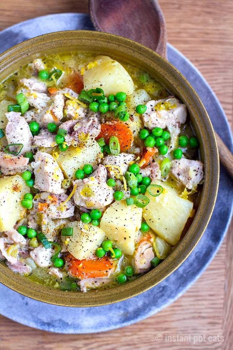 Instant Pot Chicken & Potatoes Stew Recipe Stewed