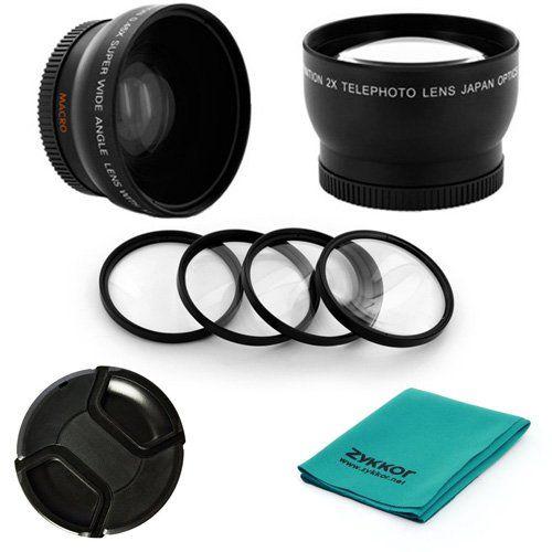 52mm 0 45x Wide Angle 2x Telephoto Lens Kit Macro 1 2 4 10 Filter Set Cap Cloth For Nikon D40 D60 D90 Lens Wide Angle Macro Lens