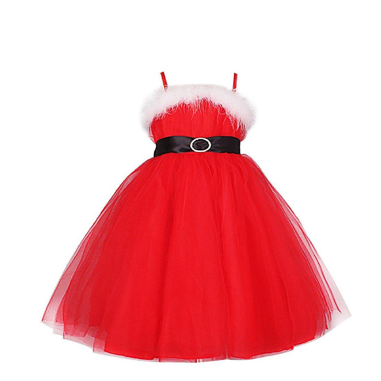 iefiel vestido elegante de princesa navidad fiesta vestidos invierno espalda al aire para nia amazon