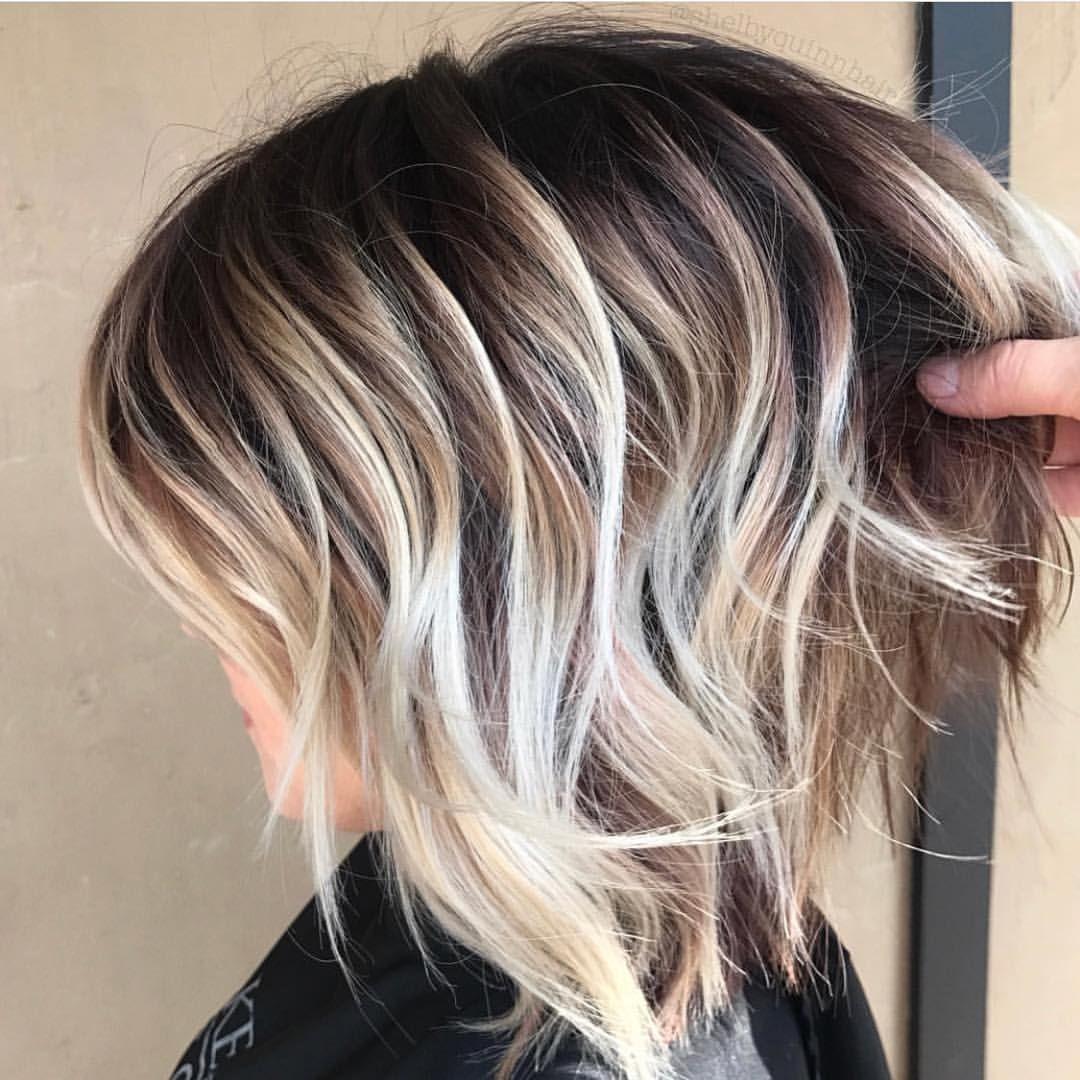 Balayage Beautiful Hair On Instagram Short Sassy By Shelbyquinnhair Bestofbalayage Showmetheb Bob Hair Color Hair Color Unique Hair Color Balayage