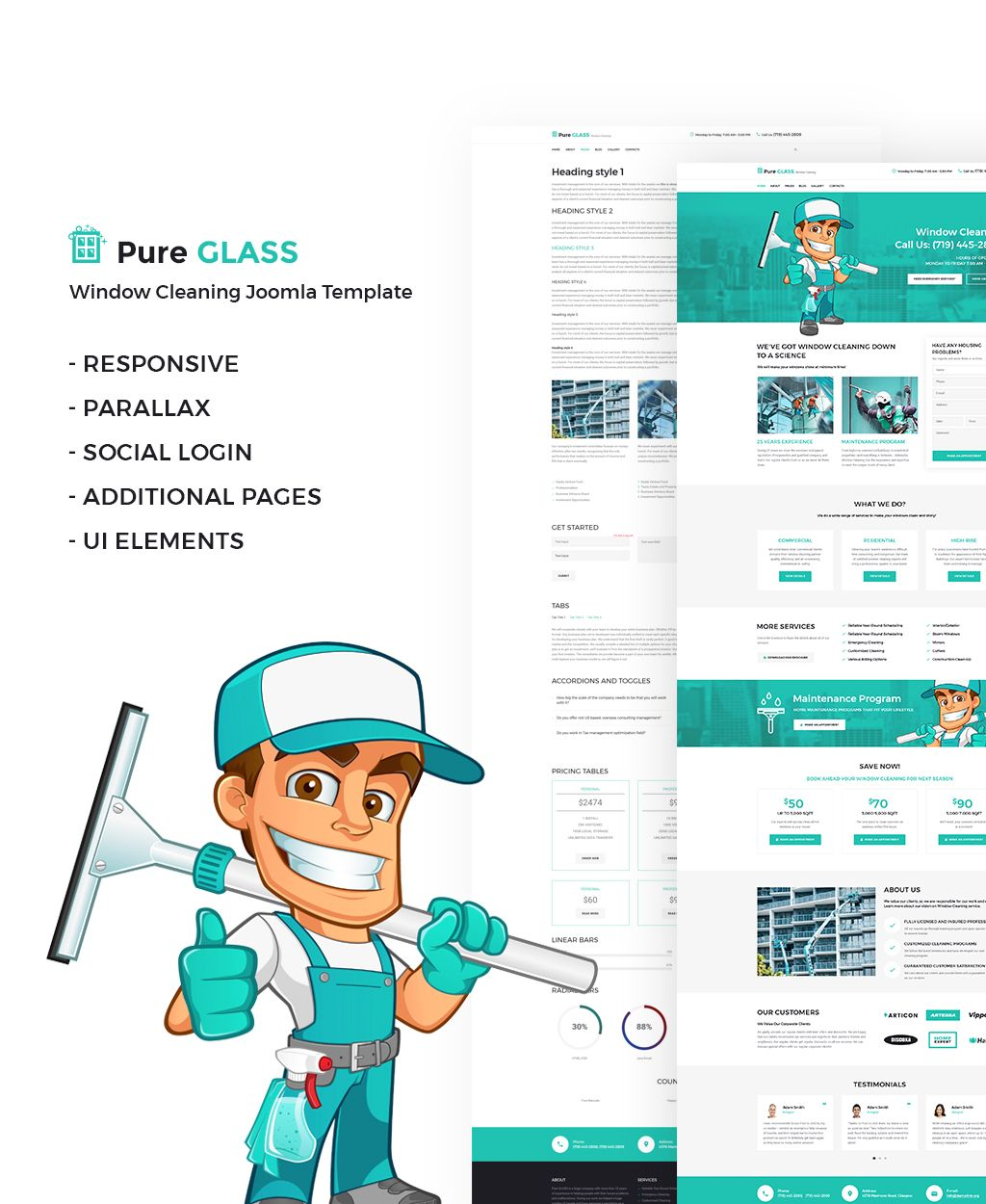 Window Cleaning Services Joomla Template