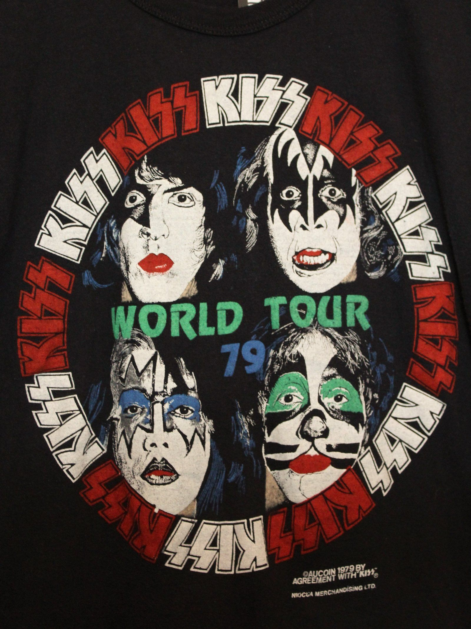 2da880c01aa Vintage Concert T Shirt KISS World Tour RARE Security 1979