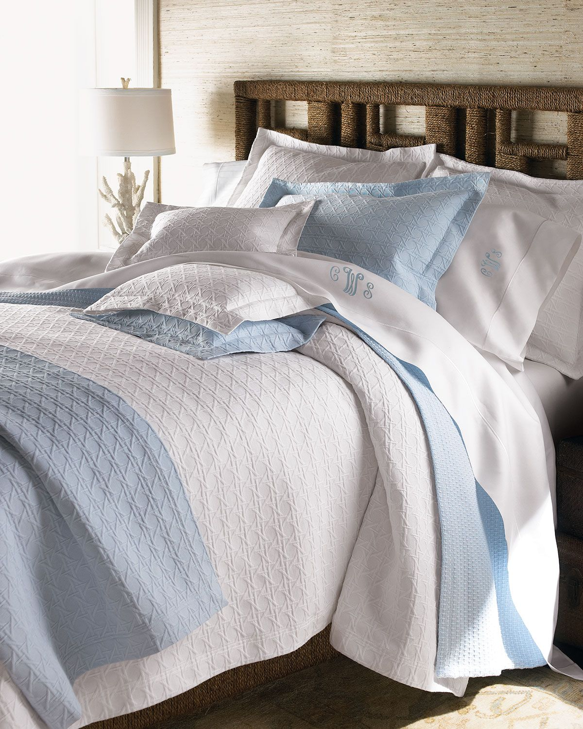 King Marcus Collection Cane Matelasse Coverlet | Bed linen ...