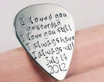 Personalized Guitar Pick, Wedding gift for Groom.