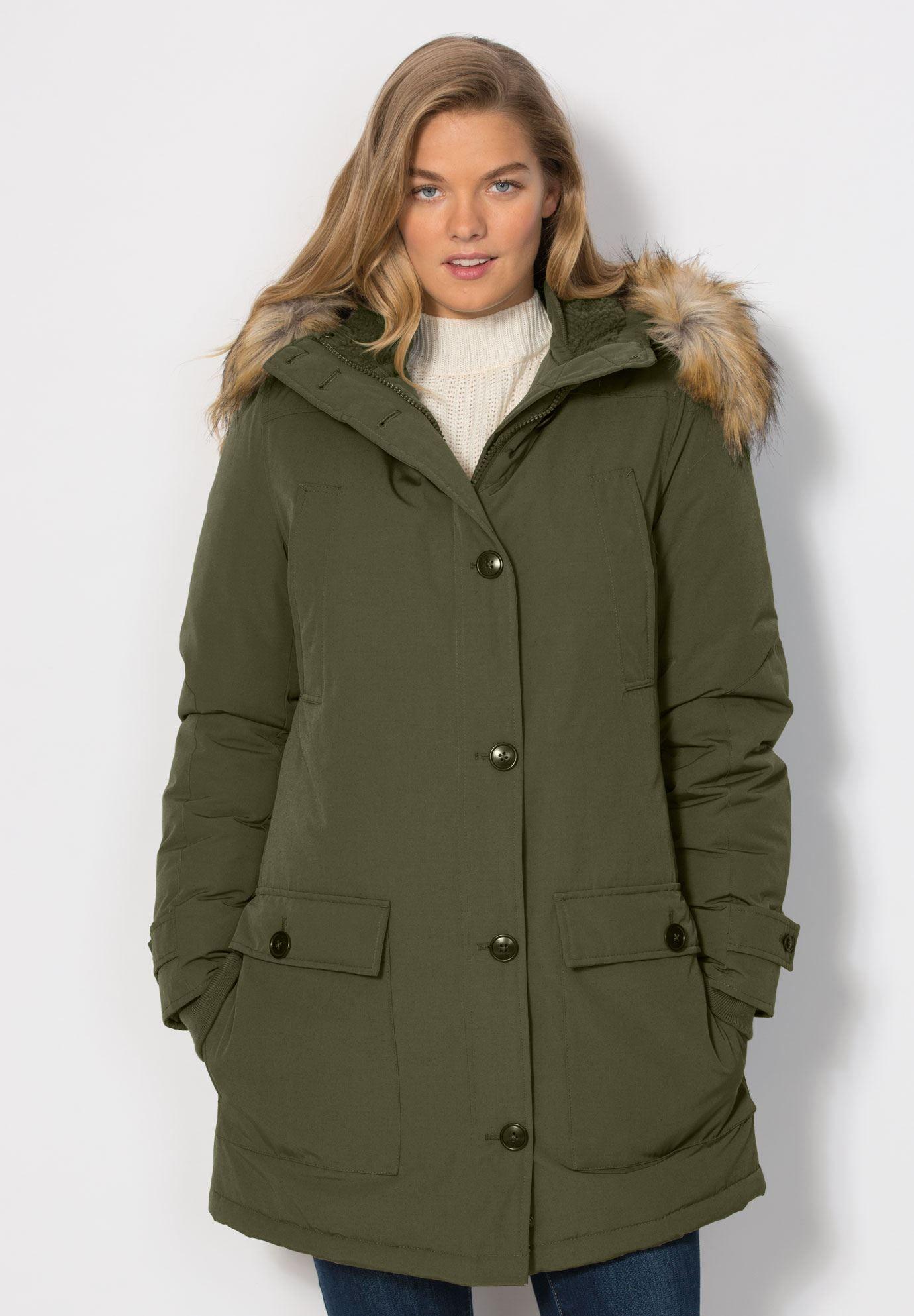 43d67842a34 Tommy Hilfiger Plus Size Faux-Fur-Trimmed Down Maxi Puffer Coat - Black 2X