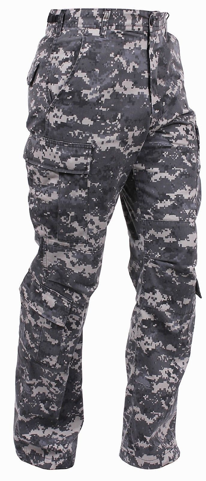 Comfortable   Durable Poly Cotton Material - Features Subdued Urban Digital  Paratrooper Fatigue Cargo Pants - Two 2