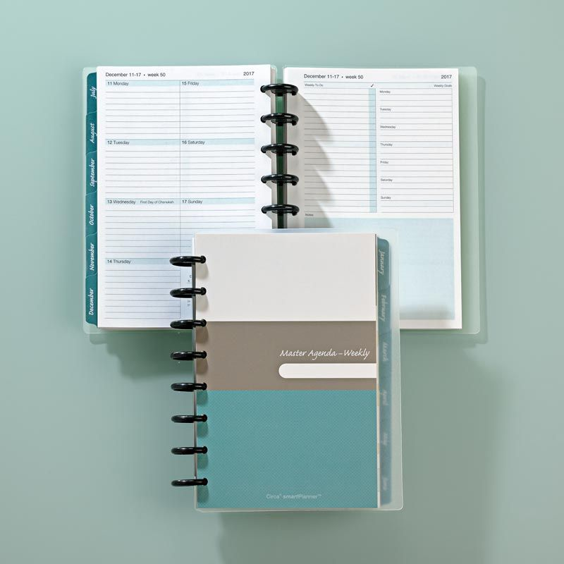 Circa Smartplanner  Weekly Agenda Notebook  Junior Size