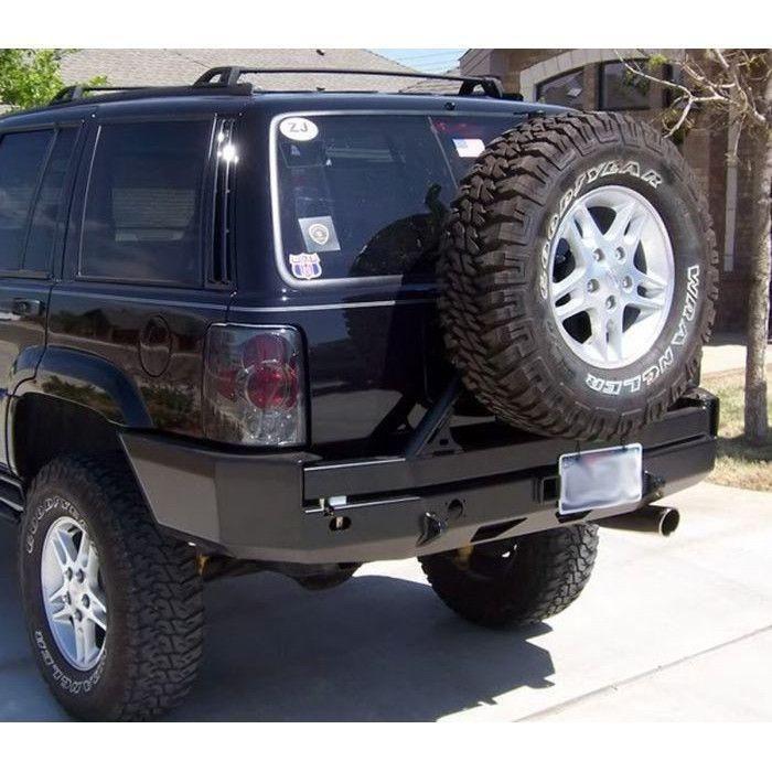 Hanson Zj Rear Bumper W Tire Carrier Jeep Zj Jeep Cherokee Jeep Bumpers