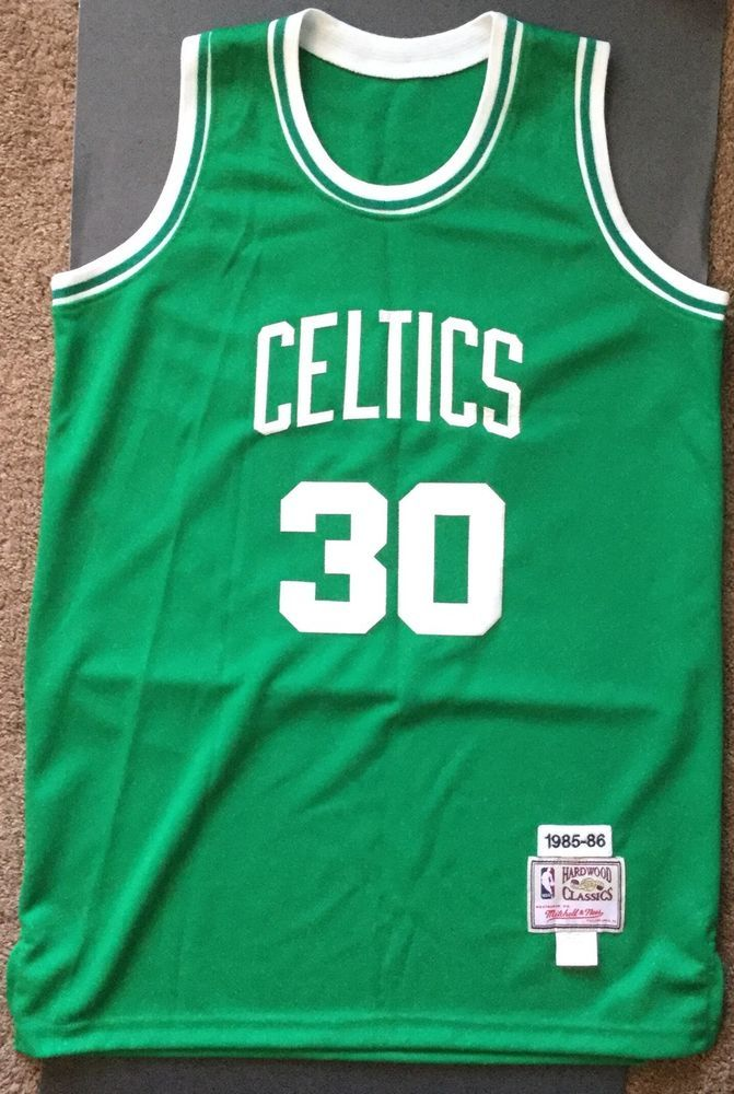 new concept 055e0 87039 Len Bias Boston Celtics Authentic Hardwood Classics Mitchell ...