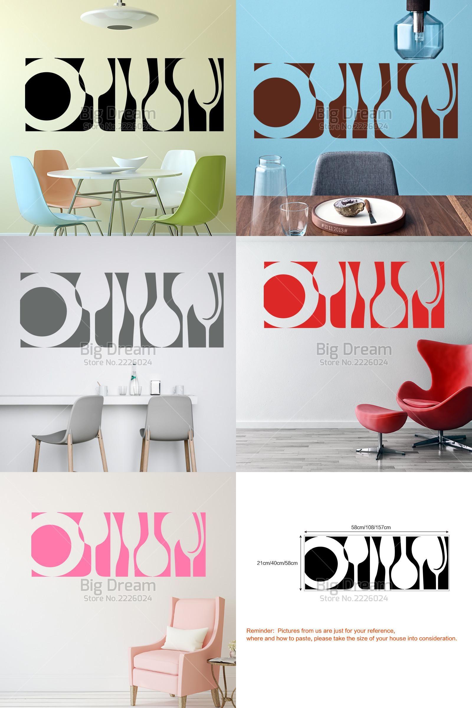 Visit to buy art design tableware wall sticker home decor diy