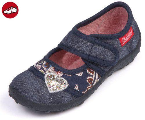 Beck Glitter 646, Mädchen Hausschuhe, Blau (jeans 20), EU 34 -