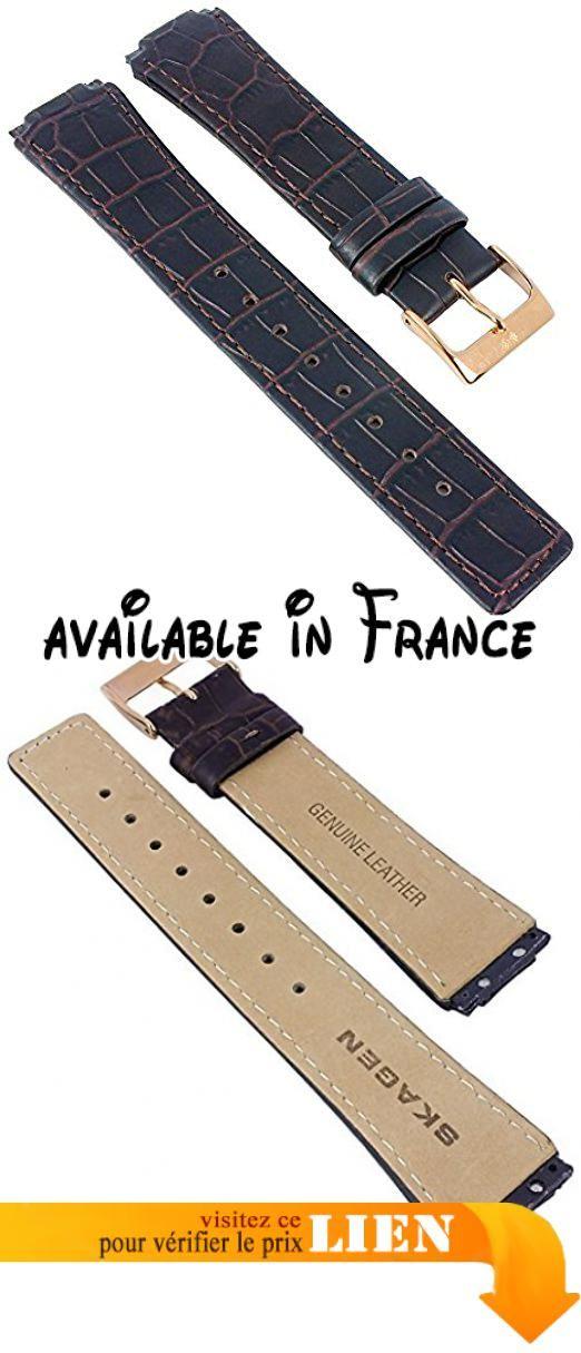 B06XWXXT33 : Ersatzband Uhrenarmband Leder braun mit