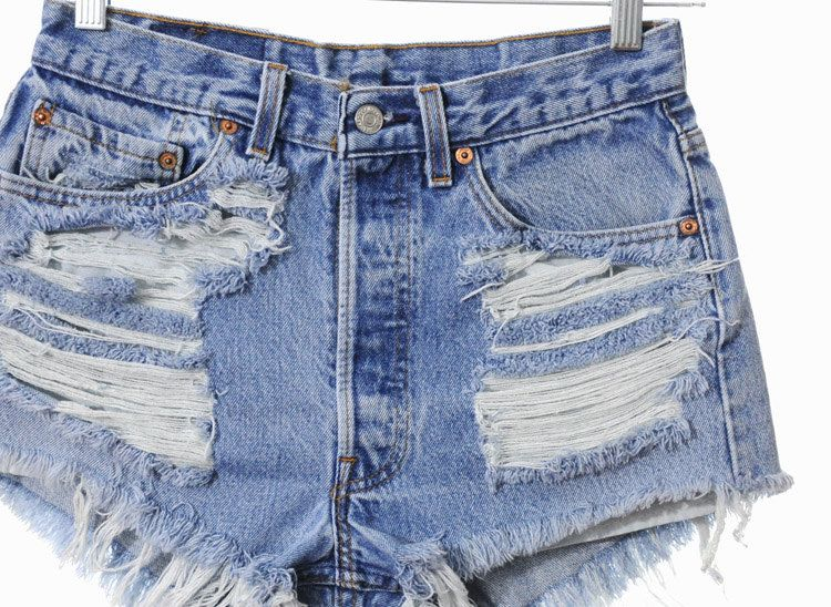 With cutoff denim that exposes the cool