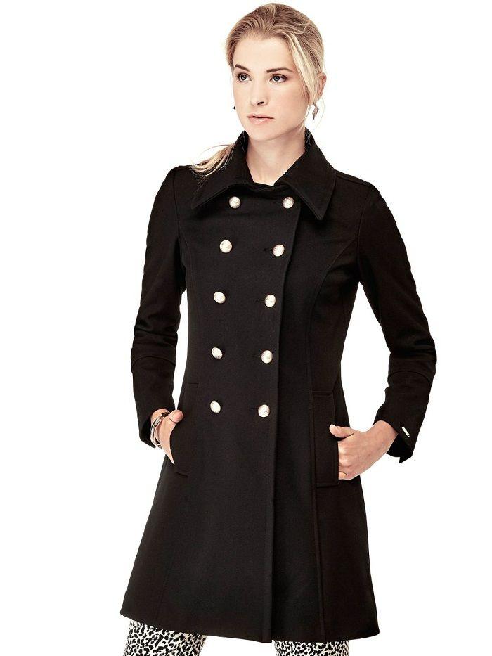 manteau croise officier guess manteau femme guess guess manteau manteau femme et manteau. Black Bedroom Furniture Sets. Home Design Ideas