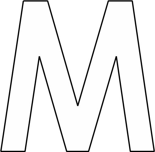 kleurplaten letter m