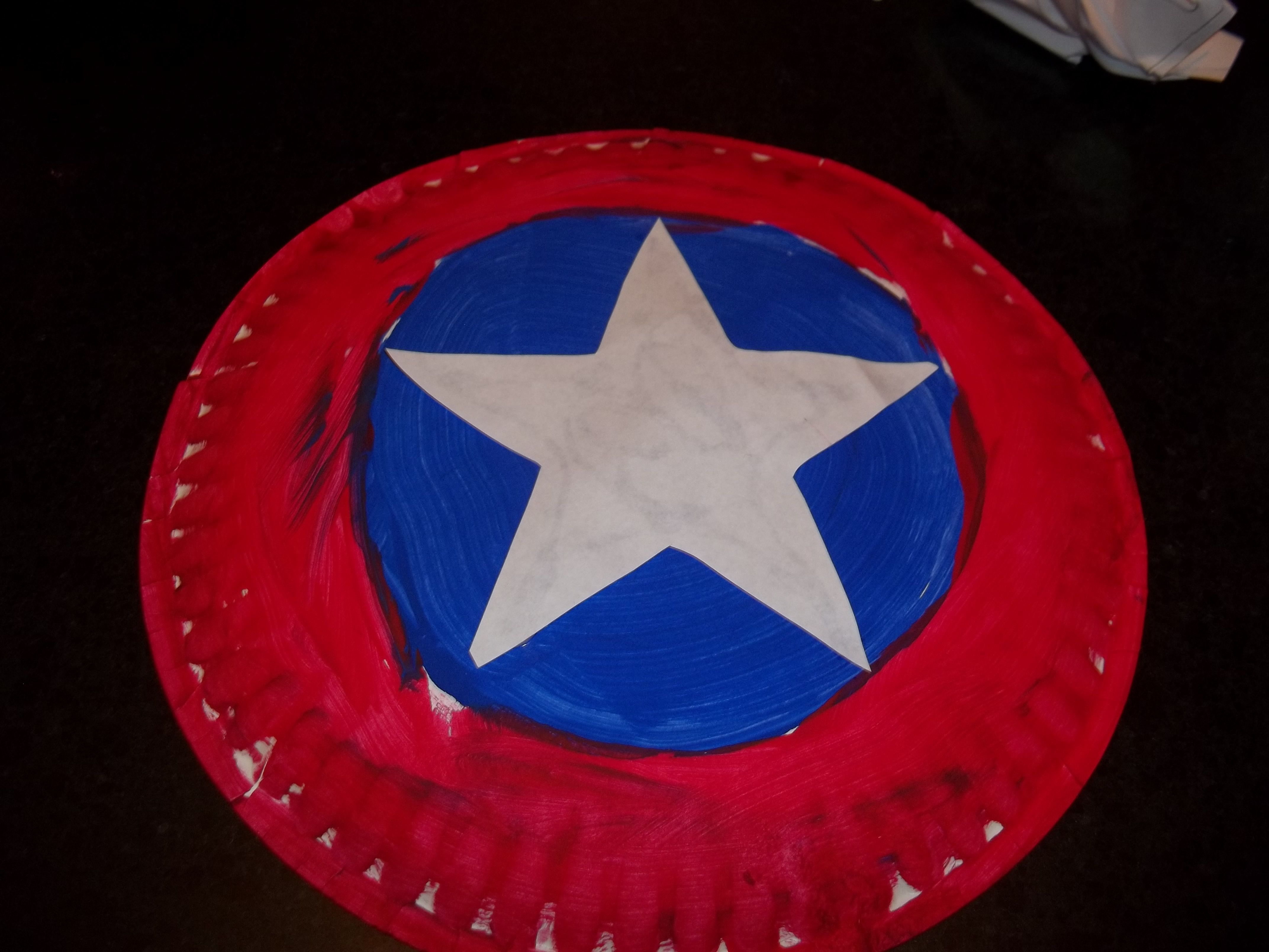 Captain america shield so easy all you need is a paper plate paint captain america shield so easy all you need is a paper plate paint cut out star and some duct tape on the back for handle boys had a ball with this toneelgroepblik Image collections