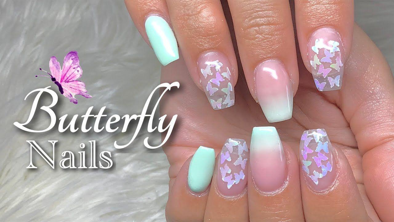 Builder Gel Nails Tutorial Builder Gel Ombre Nails Butterfly Nails In 2020 Gel Nail Tutorial Builder Gel Nails Nail Tutorials