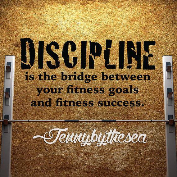 Motivational Gym Wall Decal Discipline Fitness By Jennibythesea