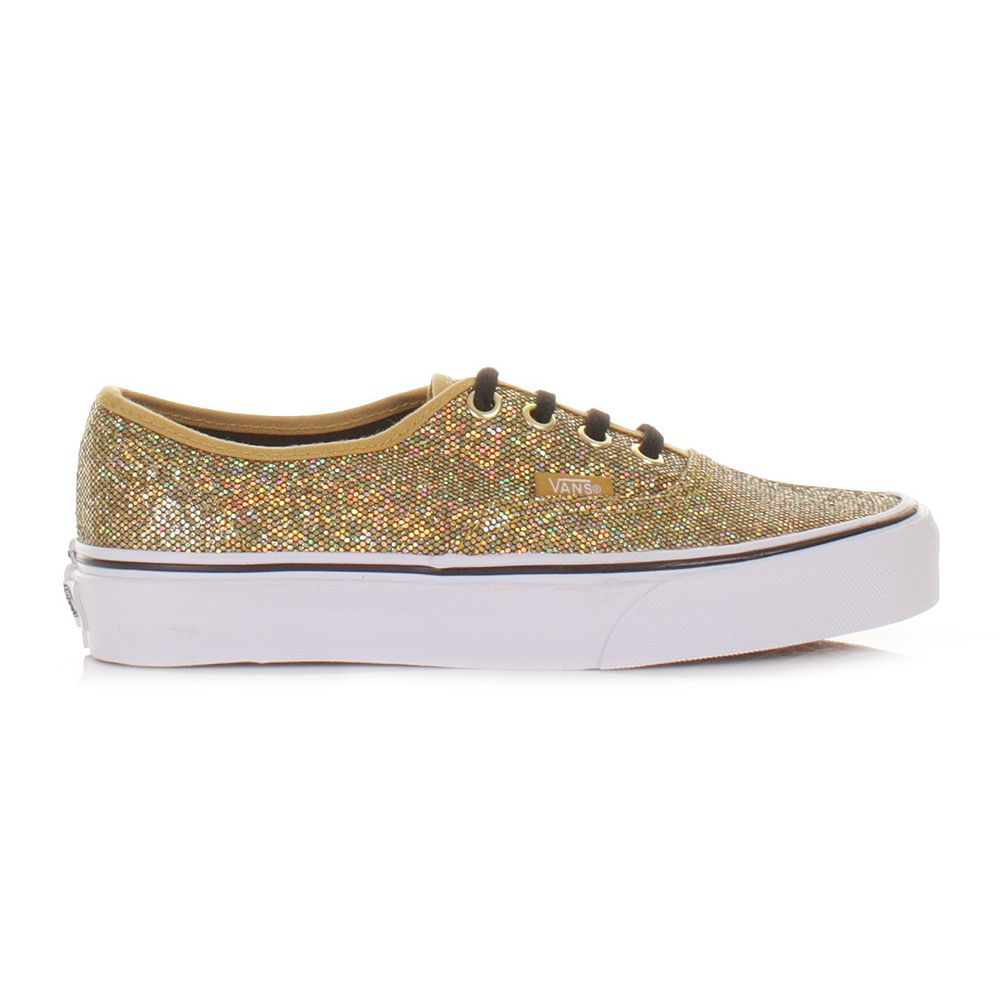 fb15a876ac womens gold glitter vans Sale