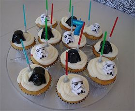 Geek Gift Ideas - Star Wars Light Sabre Cupcake Picks. Great for kids party and Star Wars Fans