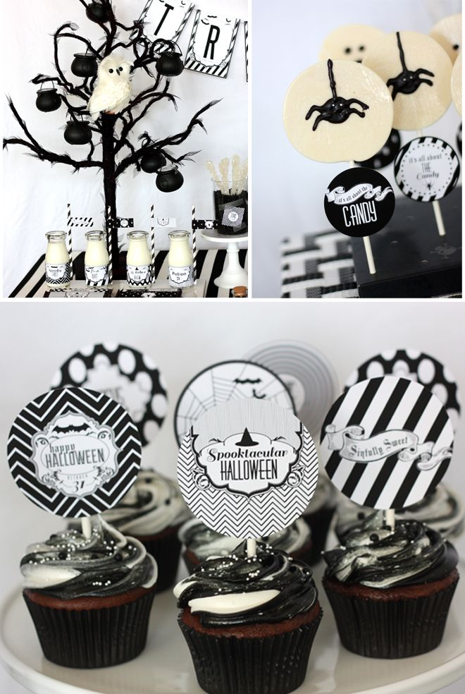 Sophisticated Black White Halloween Party Black White Halloween White Halloween Party Chic Halloween