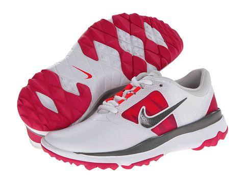 Womens Shoes Nike Golf FI Impact White/Medium Base Grey/Vivid Pink
