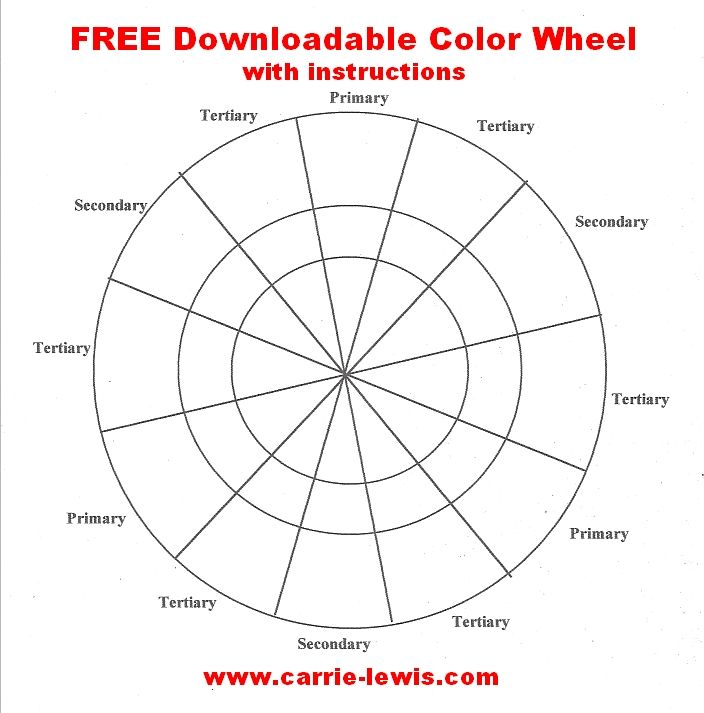 Free Color Wheel Value Scale Templates Colored Pencils Free