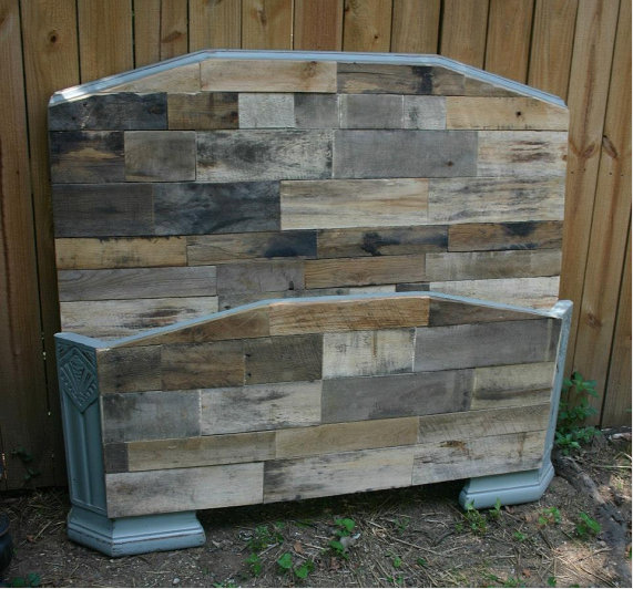 Pallet Headboard with Matching Footboard   Pallet ...