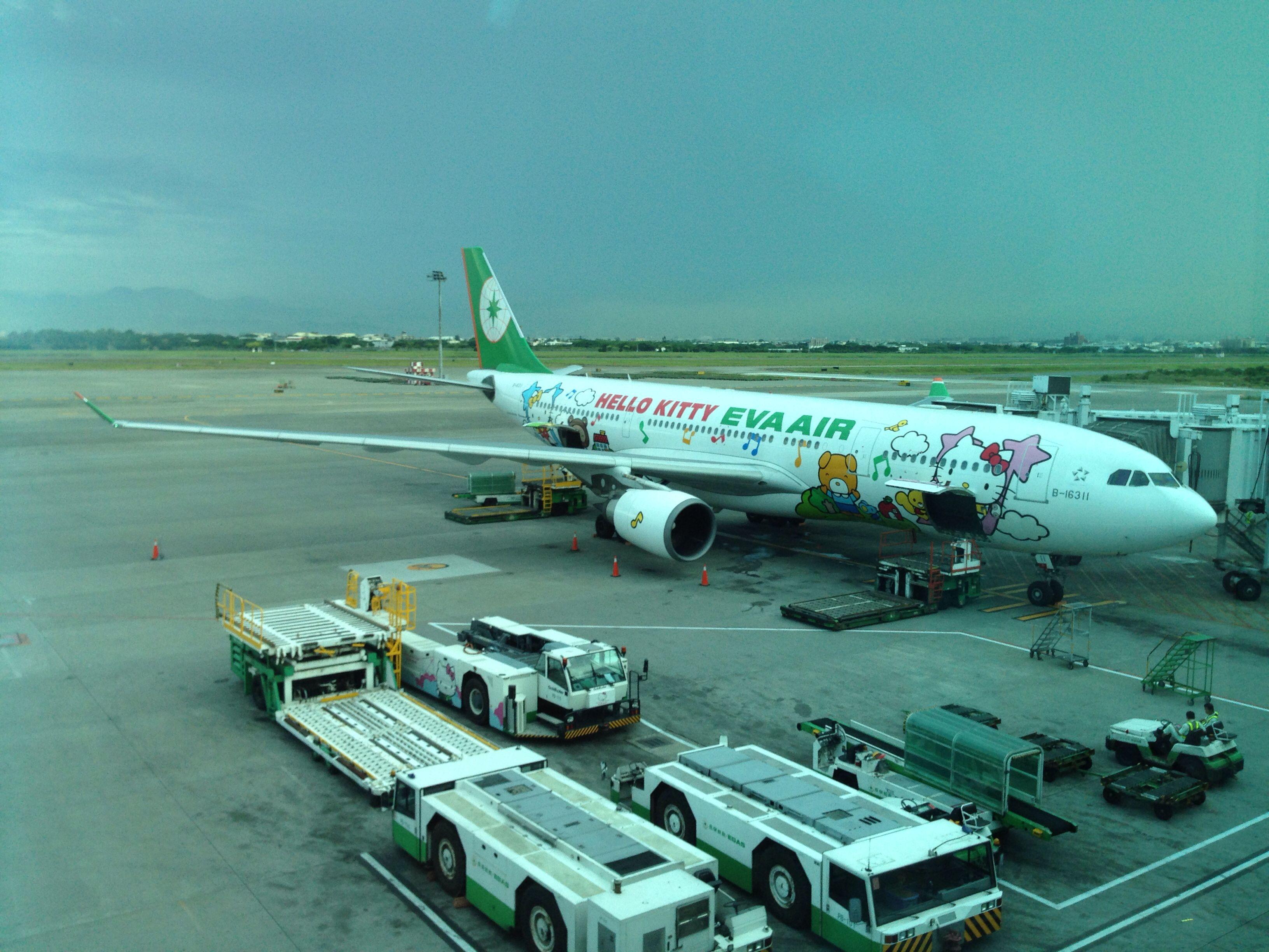 EVA Airways A330200 aeroplane Taipei, City, Taiwan