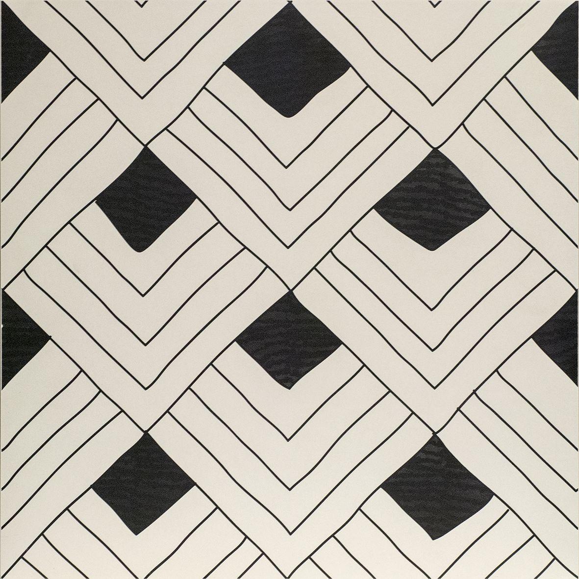 Frise Murale Damier Noir Et Blanc carrelage tangle d'ornamenta gamma due. noir et blanc façon