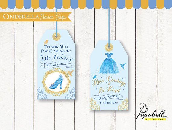 353012c4a Cinderella Favor Tags for Cinderella Birthday. DIY Cinderella Party  Printables in 2 designs! Personalized Cinderella Thank You Tags. Digital