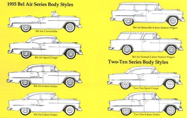 1955 Chevrolet Body Styles 1955 Chevrolet 1955 Chevy Chevrolet Sedan