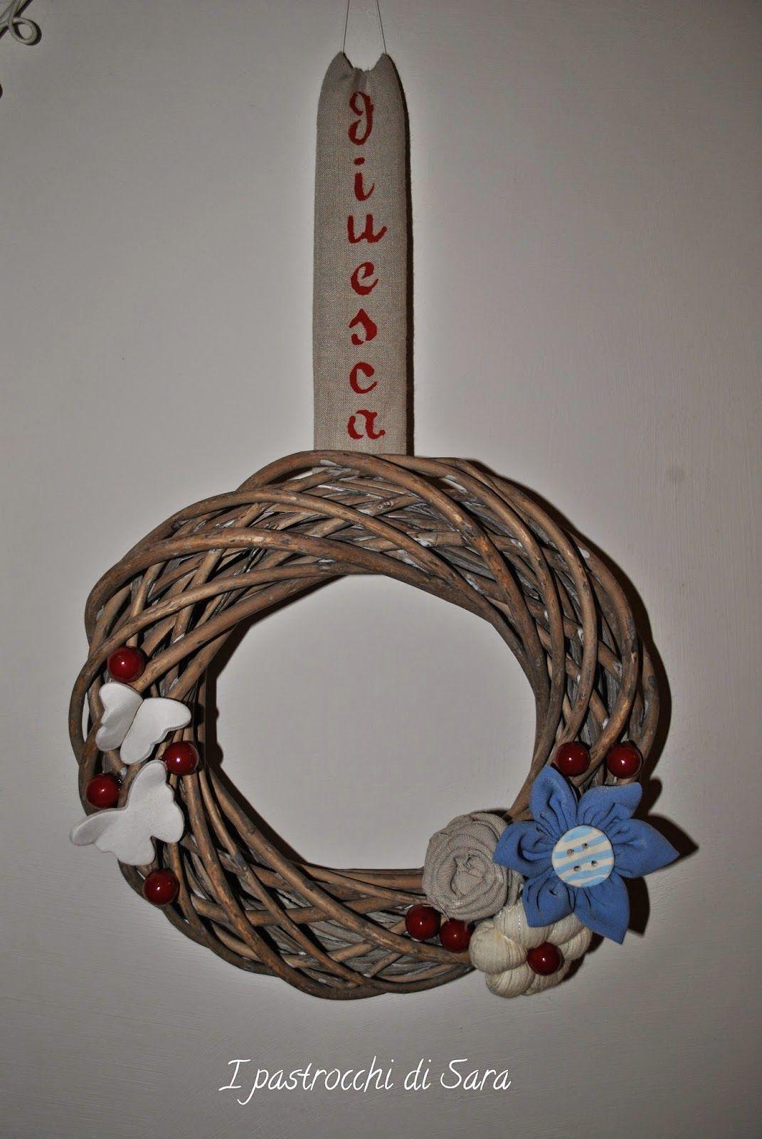 Photo of Ghirlanda di porte esterne, fiori di stoffa, farfalle