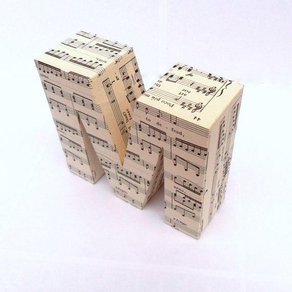 What Is An Appropriate Wedding Gift Amount: Sheet Music 3D Freestanding Letters Any Amount By