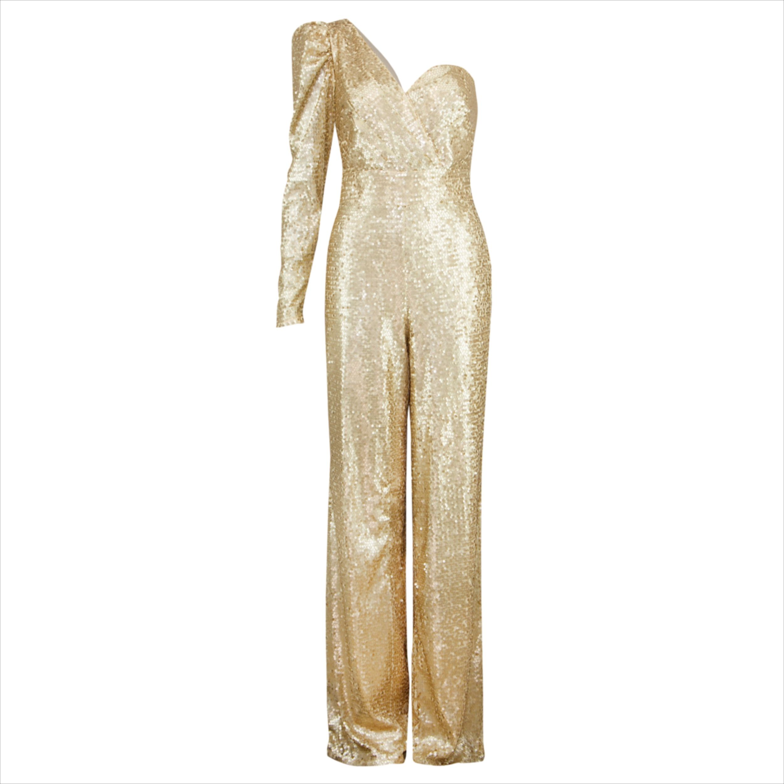 pin auf jumpsuits in gold , sequin sparkle jumpsuits