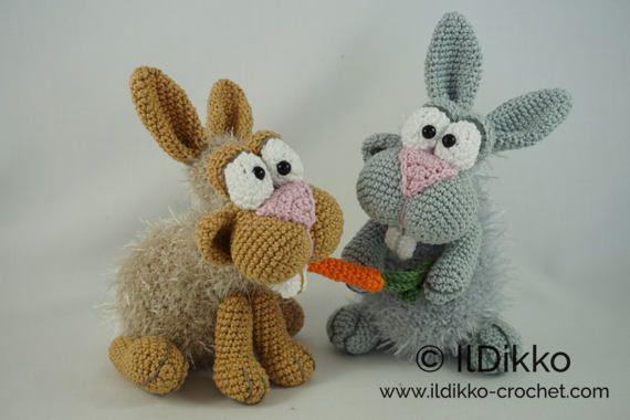 Amigurumi Crochet Pattern  Bunny and Clyde