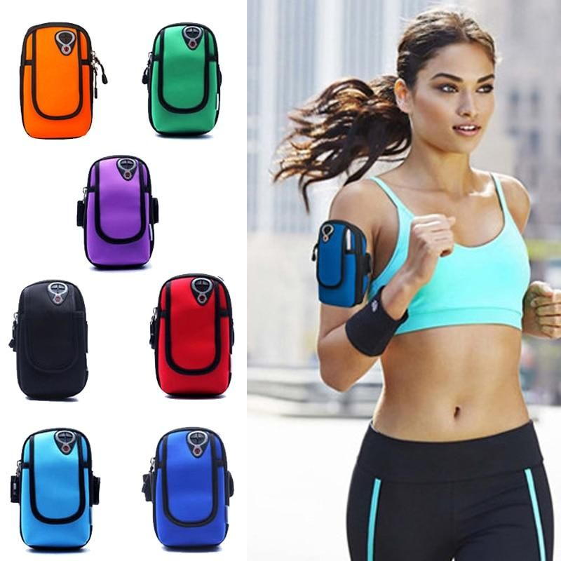 Sports & Entertainment Unisex Sport Running Arm Bag Fitness Arm Band Bag Pouch Jogging Mobile Phone Holder Pouch Gym Cover For Smartphone 6 Running