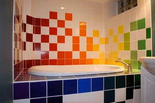 Couleur Peinture Carrelage Salle De Bain Home Bathroom Pinterest - Peinture faience salle de bain