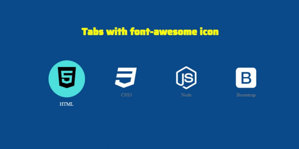 How to Make Icon Tab Menu with CSS How to make icons