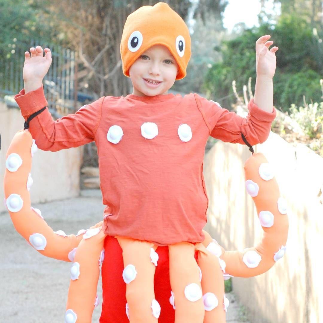 kids costume octopus dress up purim diy costume costumes diy pinterest regenbogenfisch. Black Bedroom Furniture Sets. Home Design Ideas
