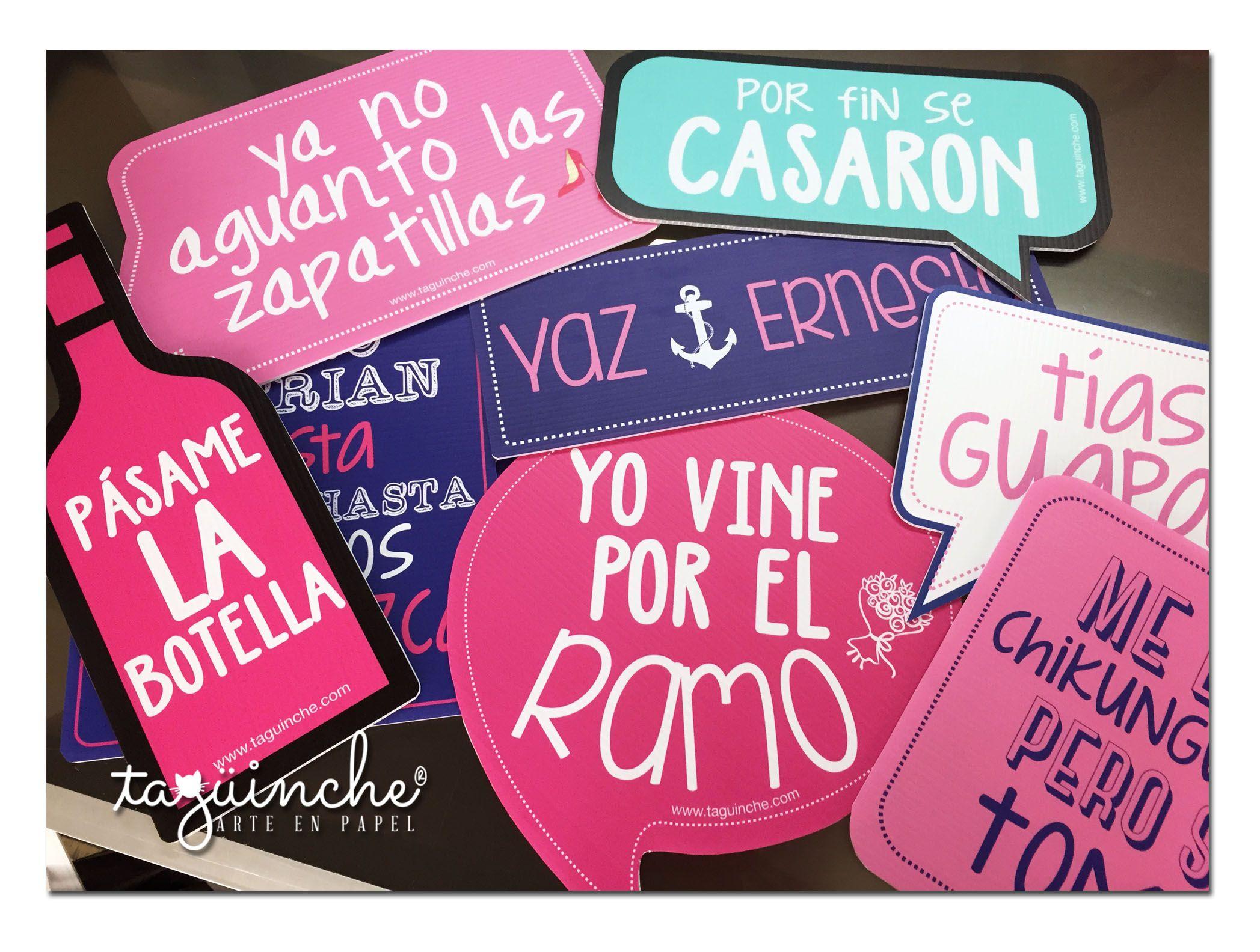 Letreros boda Marinera www.taguinche.com | Letreros para fiesta ...