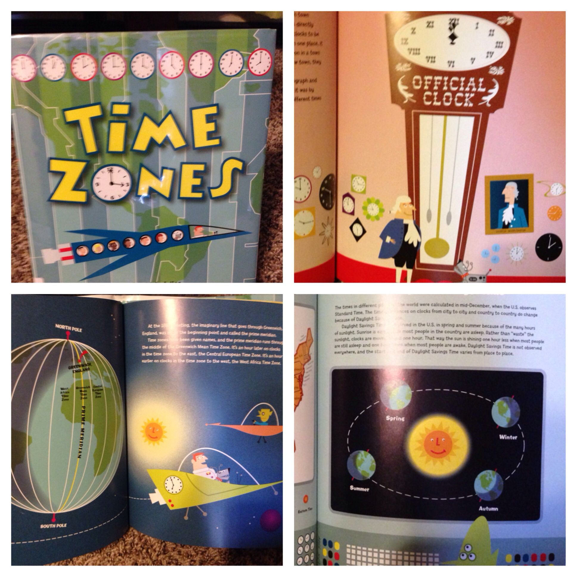 Great Book To Introduce Time Zones Daylight Savings Time