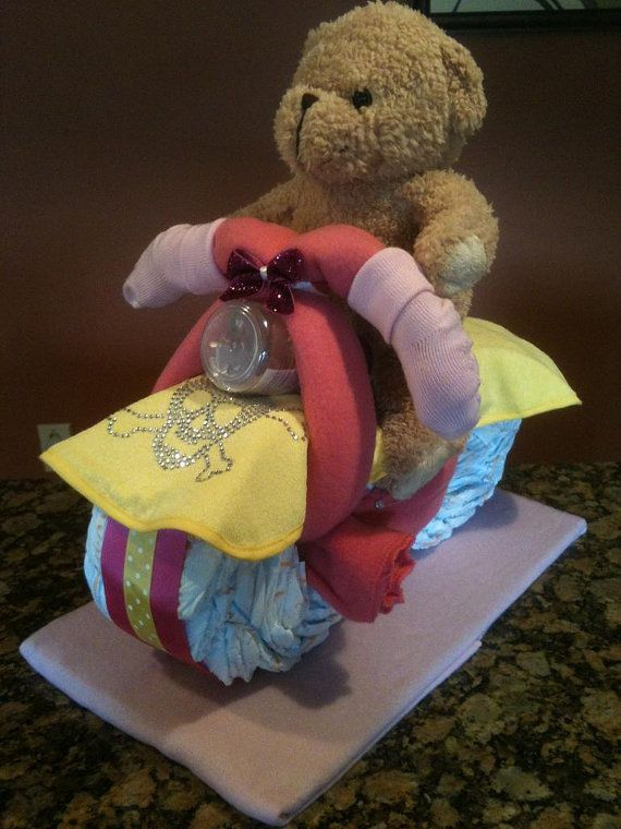 Diaper Motorcycle  Unique Baby Shower Gift or by JocelynsCreations, $45.00